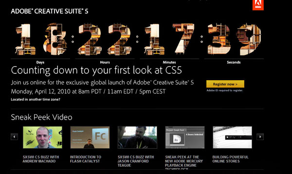 Adobe CS5 Launch