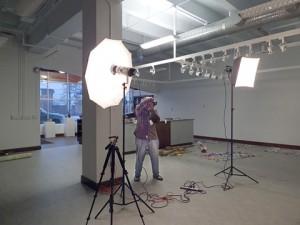 Light setup at Brentwood Art Center