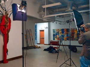 Setup at the Brentwood Art Center Gallery