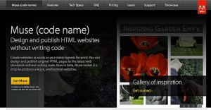 Adobe Muse web site homepage