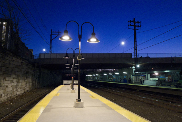 New Rochelle Station at Twilight. ©Jarvis Grant
