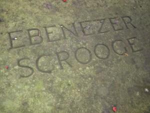 Scrooge Grave Stone ©Howard Lake