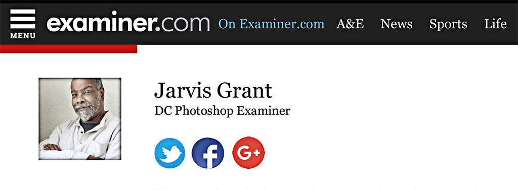 Jarvis Grant - Washington DC Photoshop Examiner - Tech Gear. | E